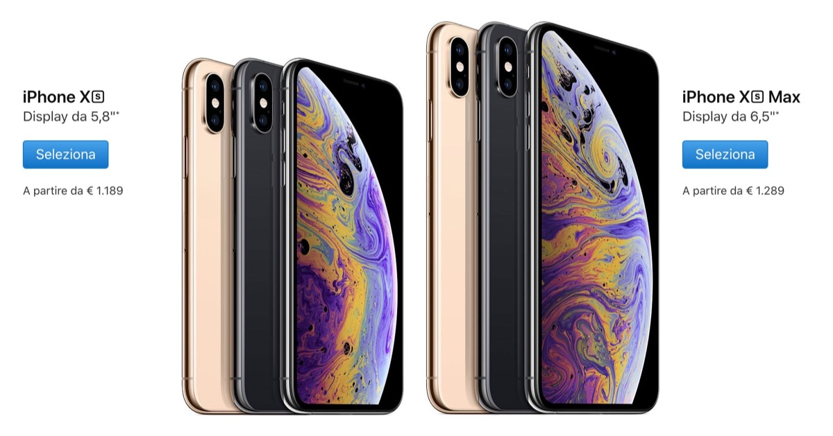 Apple presenta iPhone Xs e iPhone Xs Max