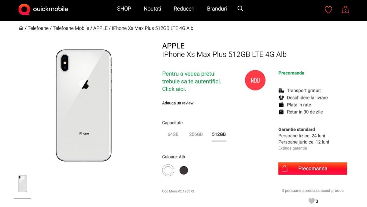 Preordini iPhone Xs già attivi in Romania