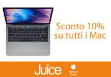 Da Juice sconto 10% su tutti i Mac, fino a 880 euro di risparmio su MacBook Pro