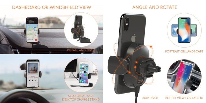 Kenu rilascia AirFrame e Airbase, per ricaricare wireless iPhone in macchina