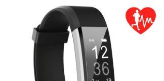 Smartband con cardiofrequenzimetro, 14 funzioni: sconto a 21 euro