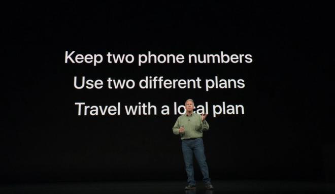 Con la Dual-SIM e l'eSIM di iPhone Xs e iPhone XR si possono usare due SIM di due diversi operatori