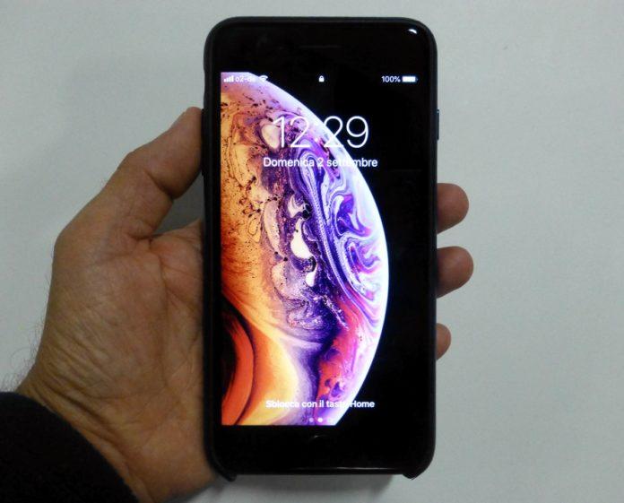 Mettere sfondo nero su foto iphone
