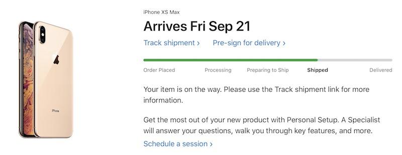 Spedizioni iPhone XS Max, XS e Watch 4 in corso per il lancio di venerdì 21 settembre
