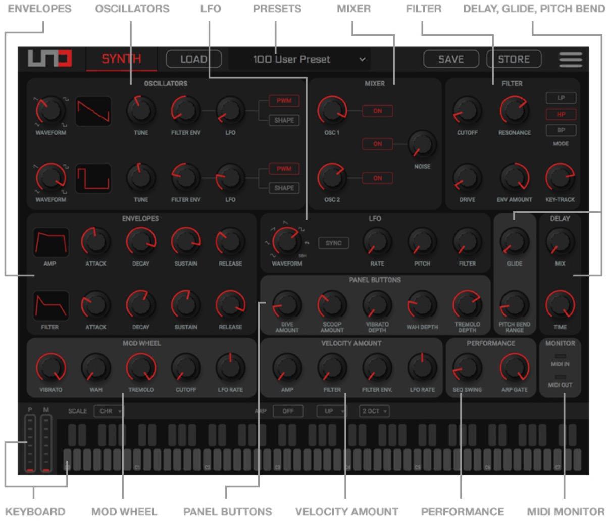 UNO Synth Editor, l'app per controllare il sintetizzatore di IK da Mac, PC e iOS