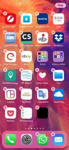 Come creare spazi vuoti sulla schermata iPhone