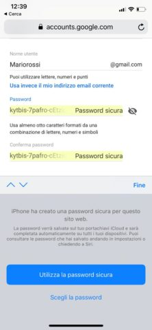 Come usare le password forti automatiche su iOS 12