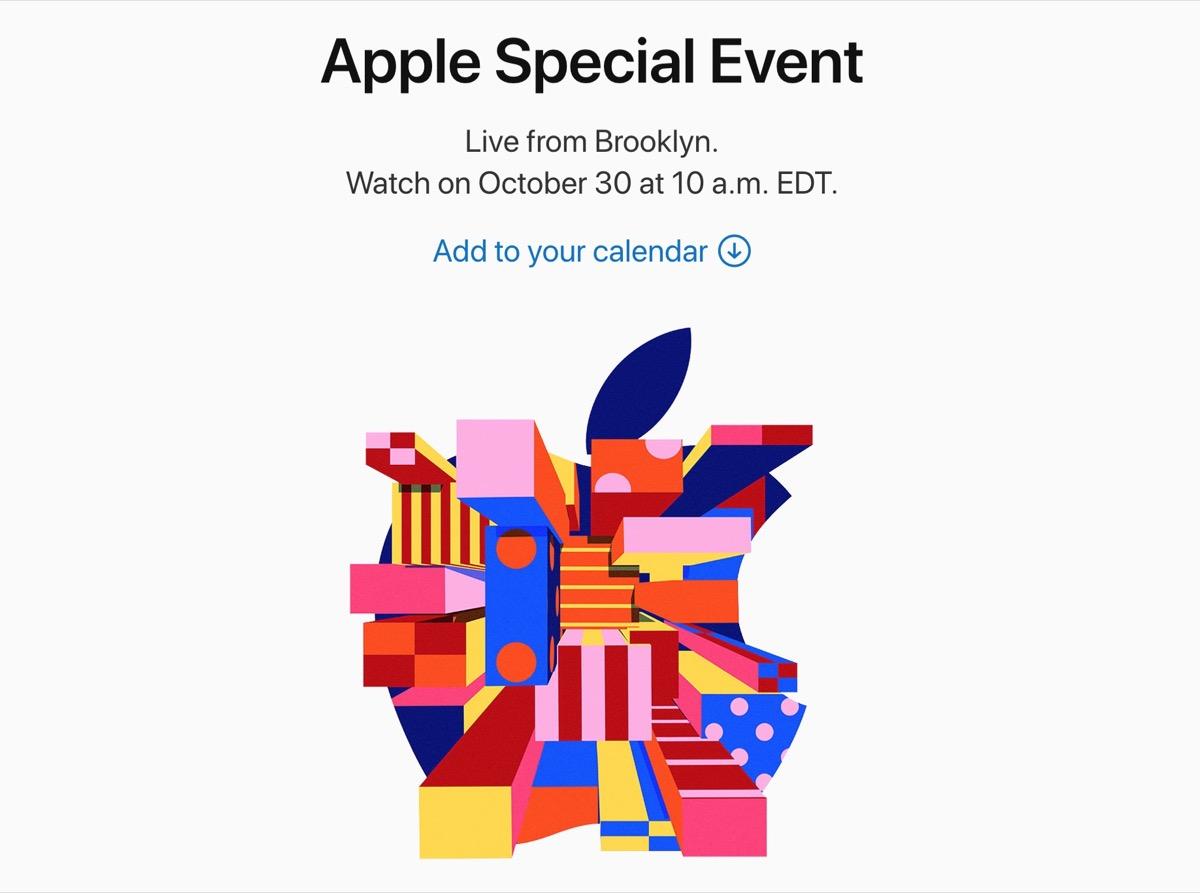 Evento Apple 30 ottobre, come seguire la diretta da qualsiasi dispositivo -  Macitynet.it