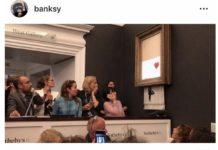 """Il mistero tecnologico del quadro """"suicida"""" di Bansky svelato su Instagram"""
