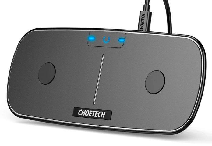 Choetech USB-C Dual Wireless Charging Pad