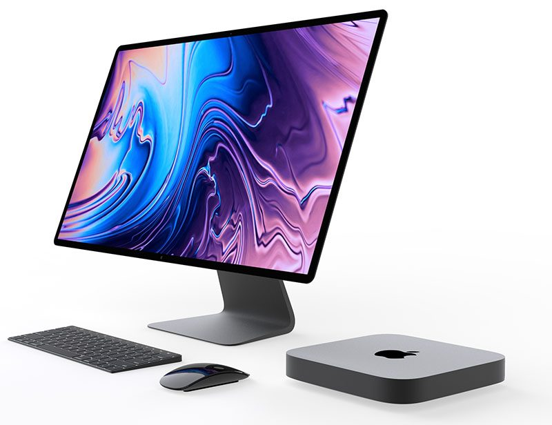 Il concept Mac mini arriva con Apple Display e tastiera Touch Bar