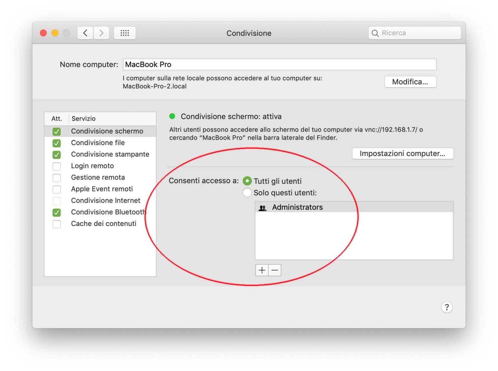 Come visualizzare lo schermo di un altro Mac nella stessa rete anche da PC e iPad