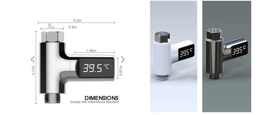 Mai più docce gelate o bollenti con il termometro digitale universale: 8 euro