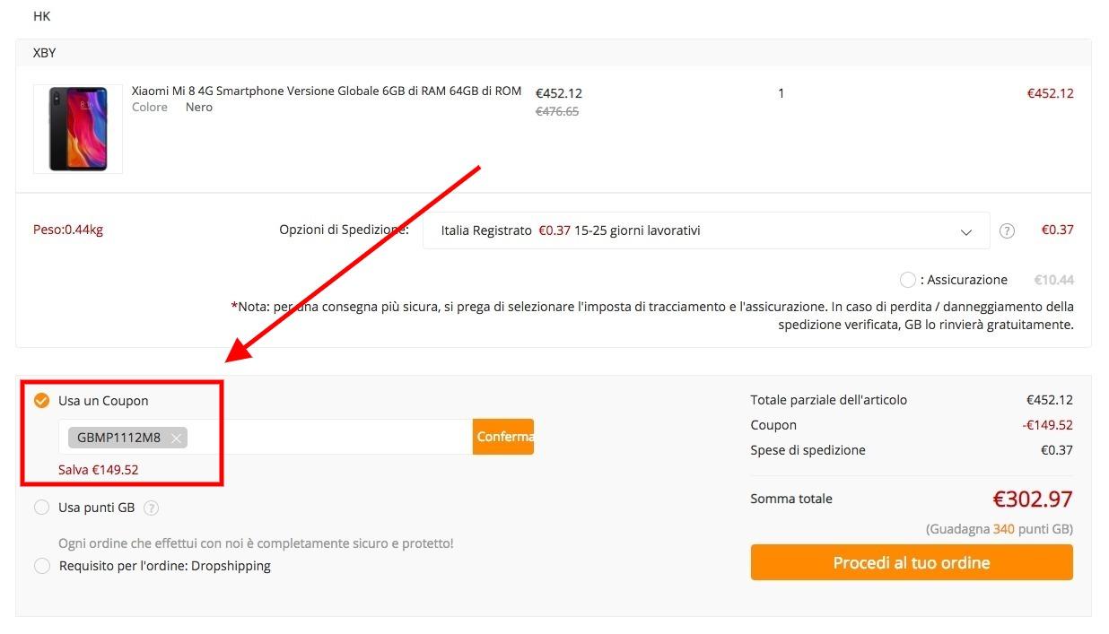 Xiaomi Mi 8 da 128 GB, l'ammiraglia cinese a prezzo imperdibile: soli 356 Euro