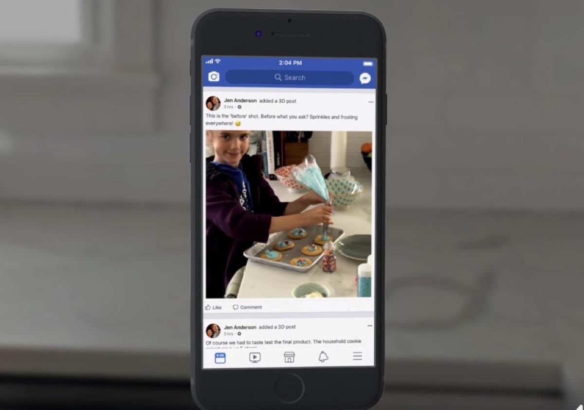 Facebook lancia le foto 3D
