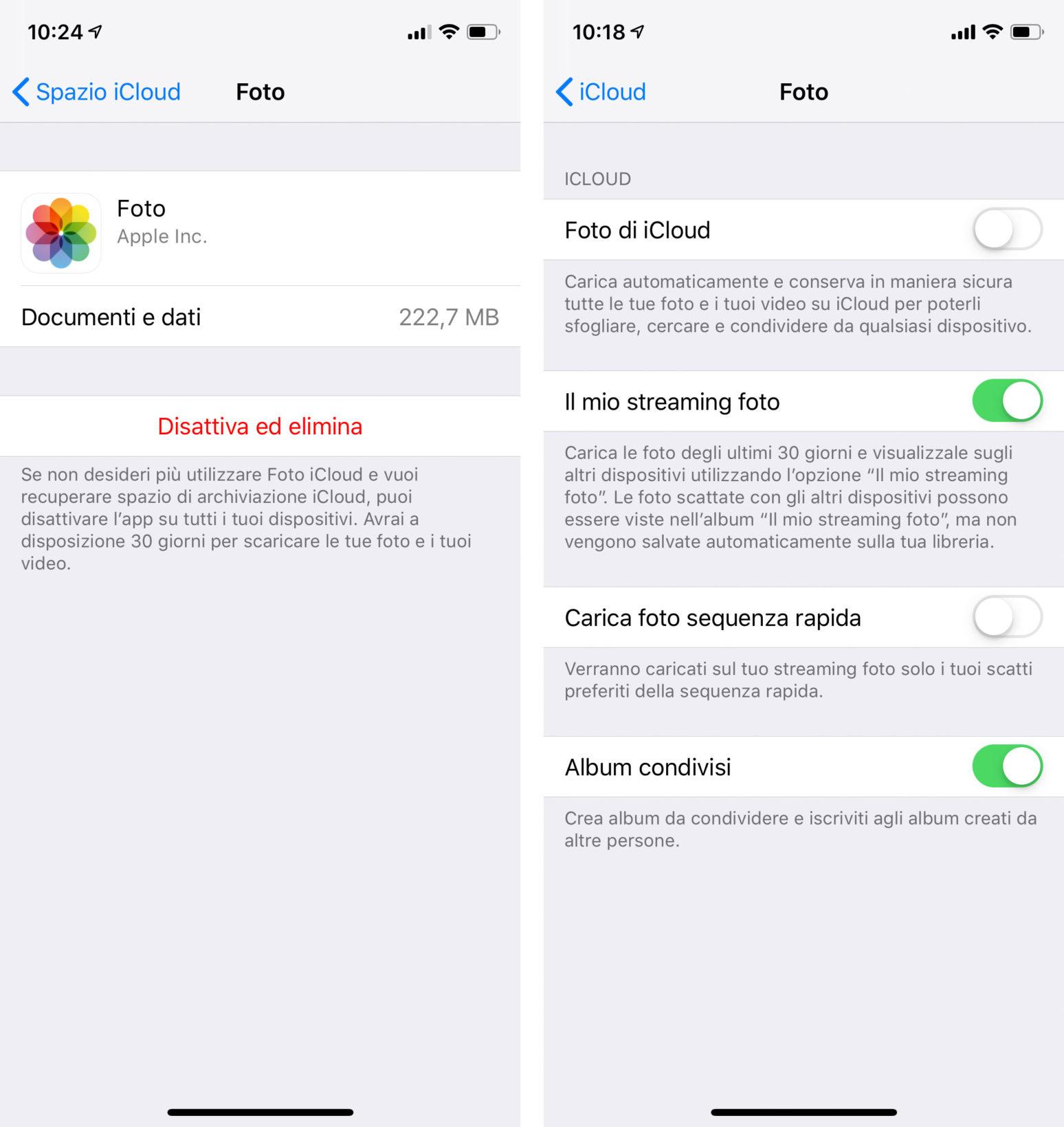 Come liberare spazio su iCloud