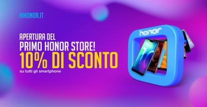Honor apre il suo primo negozio monobrand a Arese, sconto del 10% su tutti gli smartphone