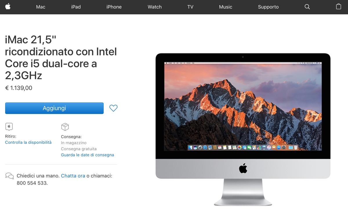 iMac ricondizionati in sconto su Apple Store online - foto imac