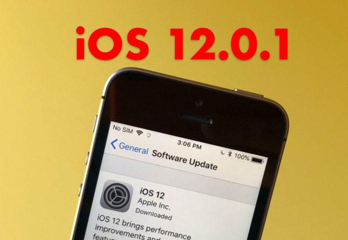 Disponibile iOS 12.0.1