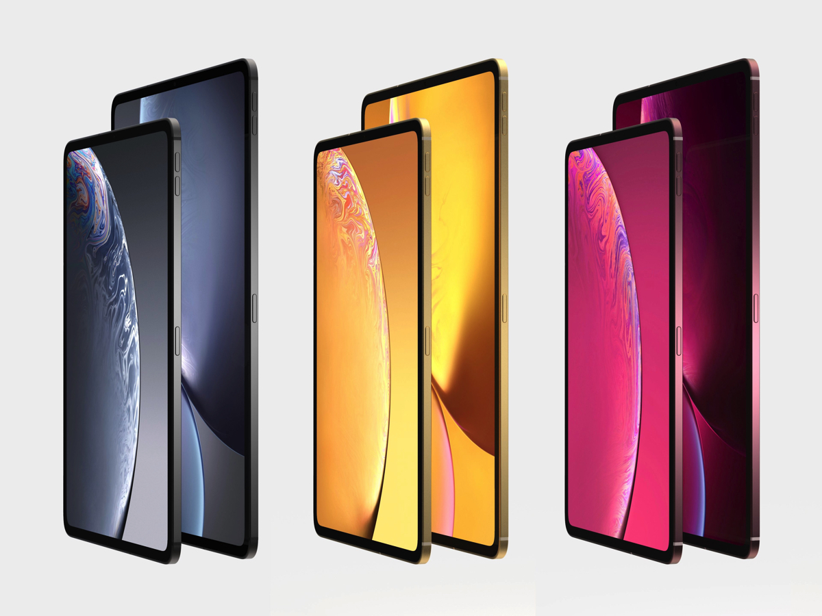 iPad con face id - rendering dei nuovi iPad Pro 2018 che vedremo all'evento Apple 30 ottobre