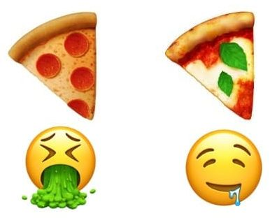 emoji pizza a confronto