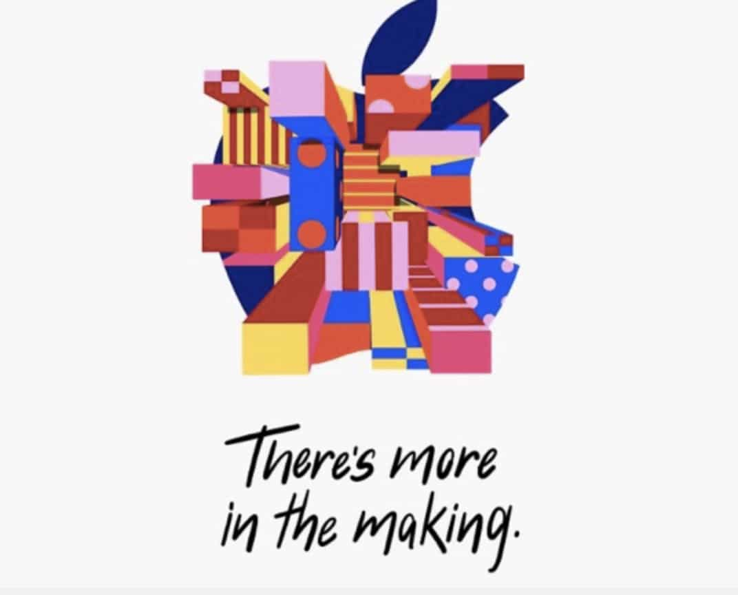 Grafica nell'invito Apple per il 30 ottobre
