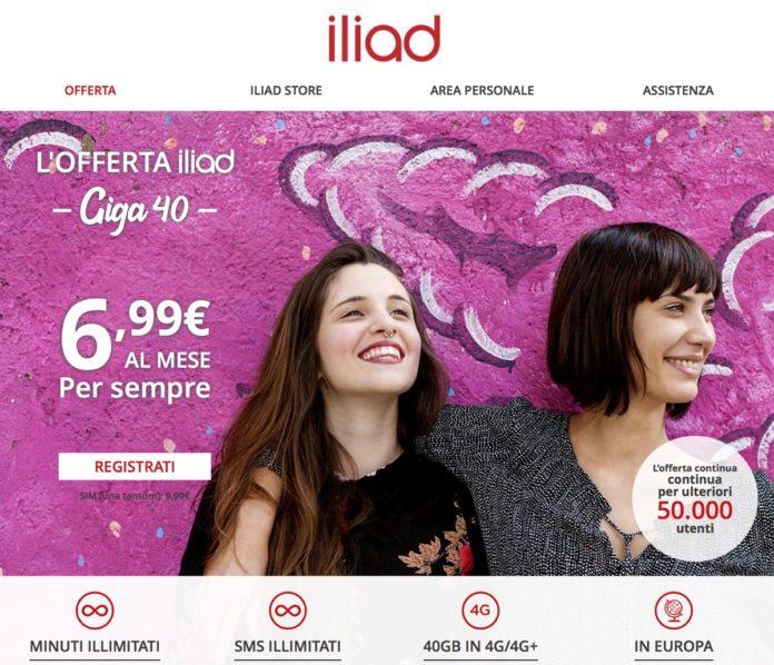 Offerta iliad Giga 40, un piccolo trucco per abbonarsi ancora a 6,99 euro