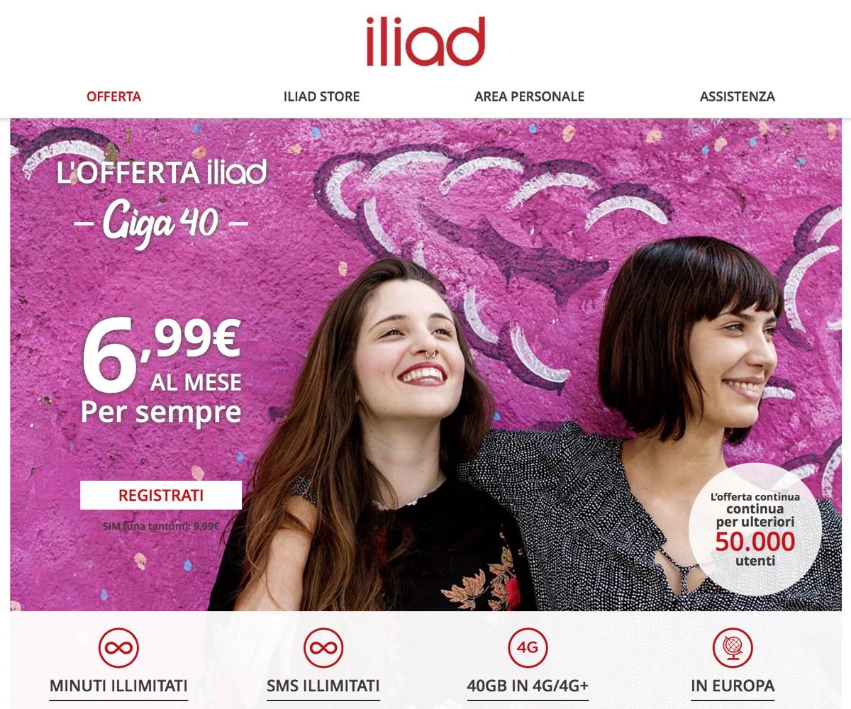 Offerta iliad Giga 40, un piccolo trucco per abbonarsi a 6,99 euro