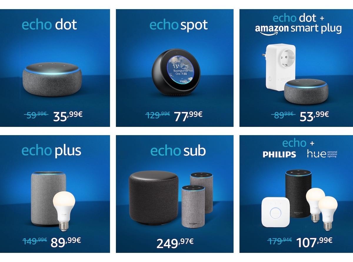 I bundle Echo di Amazon Alexa: quando il kit ha lo stesso prezzo del solo smart speaker