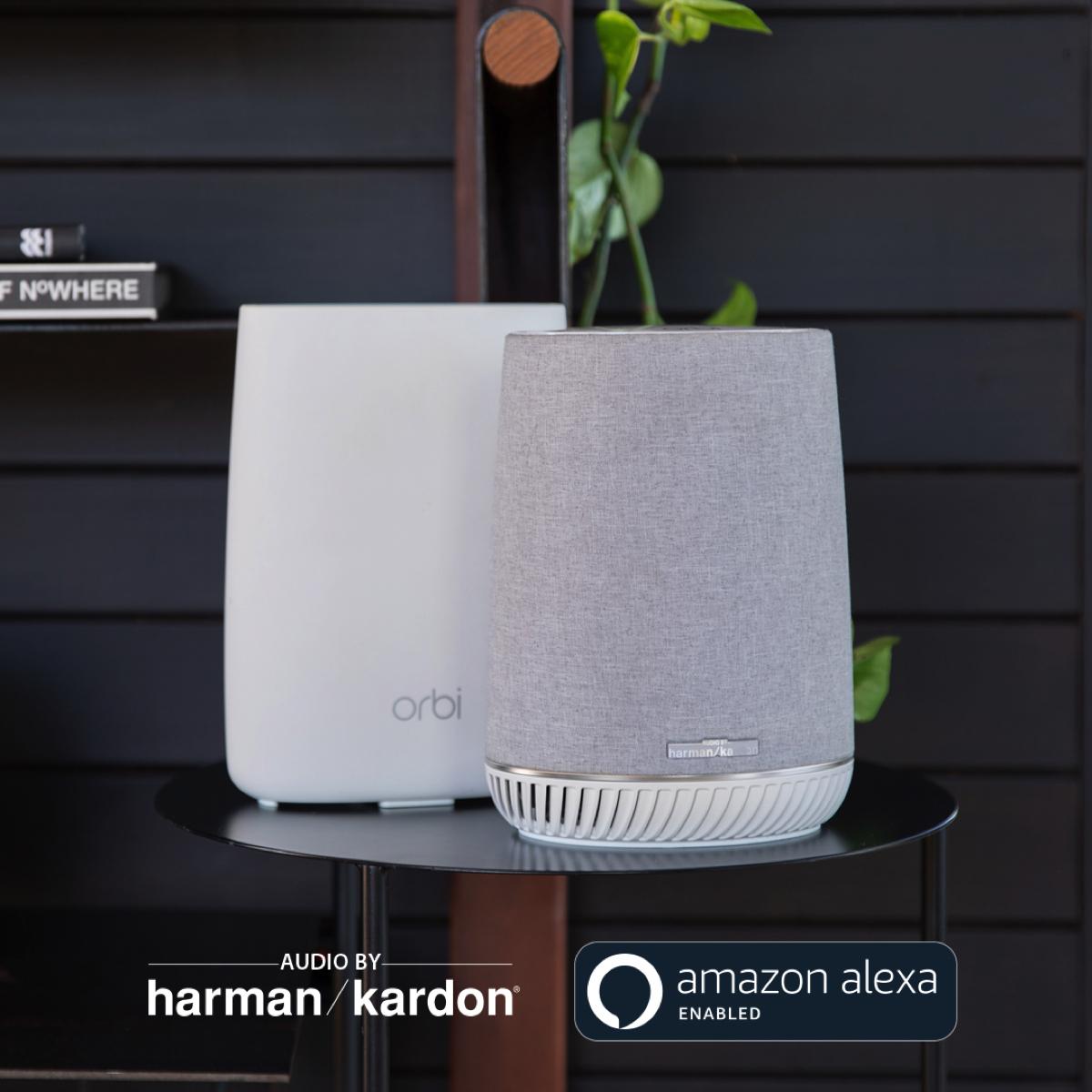 Netgear Orbi Voice unisce Wi-Fi Mesh, audio Harman Kardon e Amazon Alexa