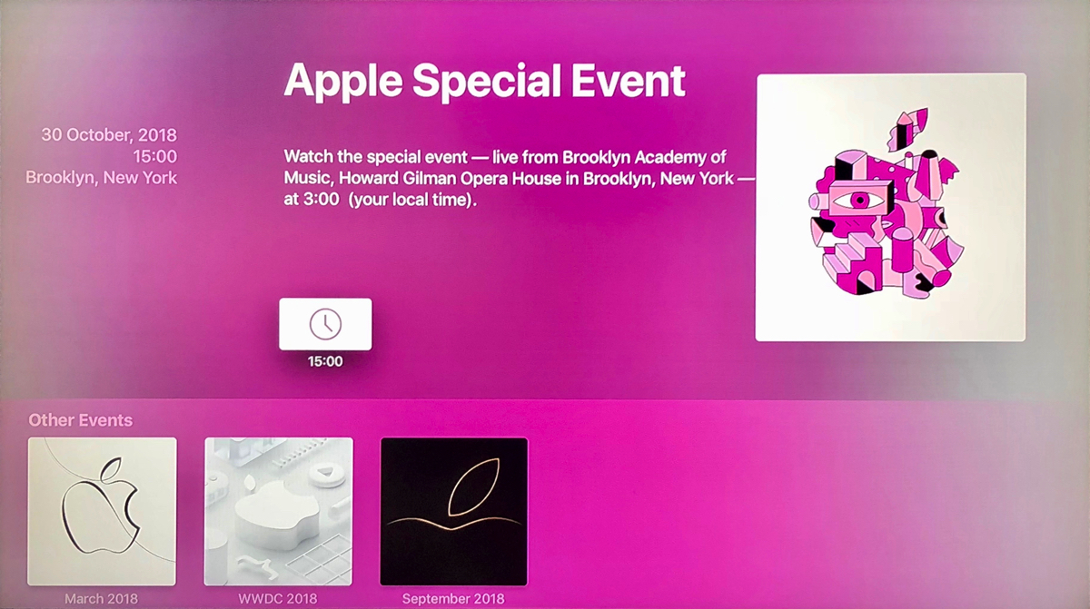Presentazione Apple 30 ottobre, la diretta su Apple TV inizia alle ore 15
