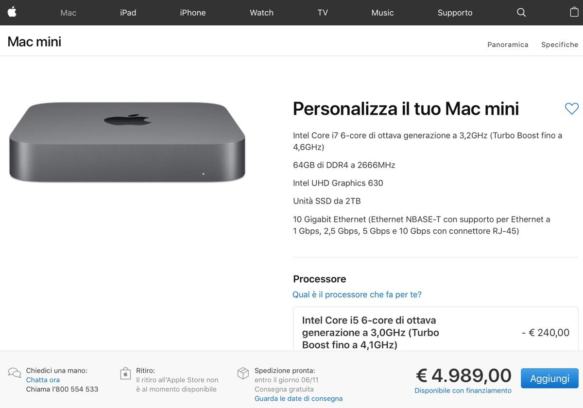 Record prezzi Apple: MacBook Air 3.119 euro, Mac mini 4.989 euro, iPad Pro 2.119 euro