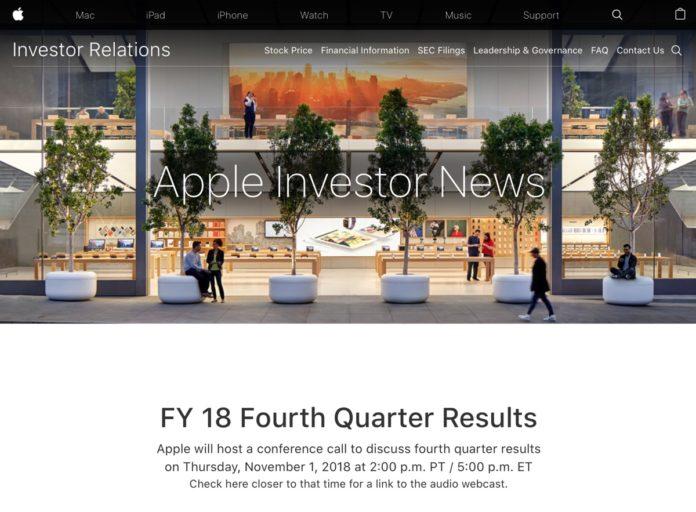 Tutta la verità sulle vendite iPhone XS nei risultati fiscali Apple Q4 2018