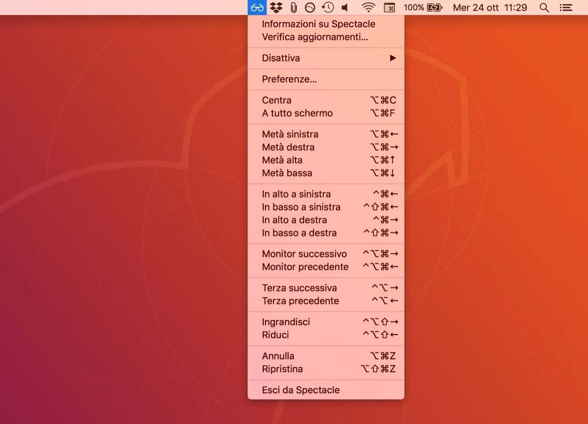 Spectacle, l'app per domare le finestre su Mac