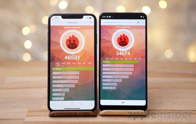iPhone XS Max contro Google Pixel 3 XL, giganti a confronto