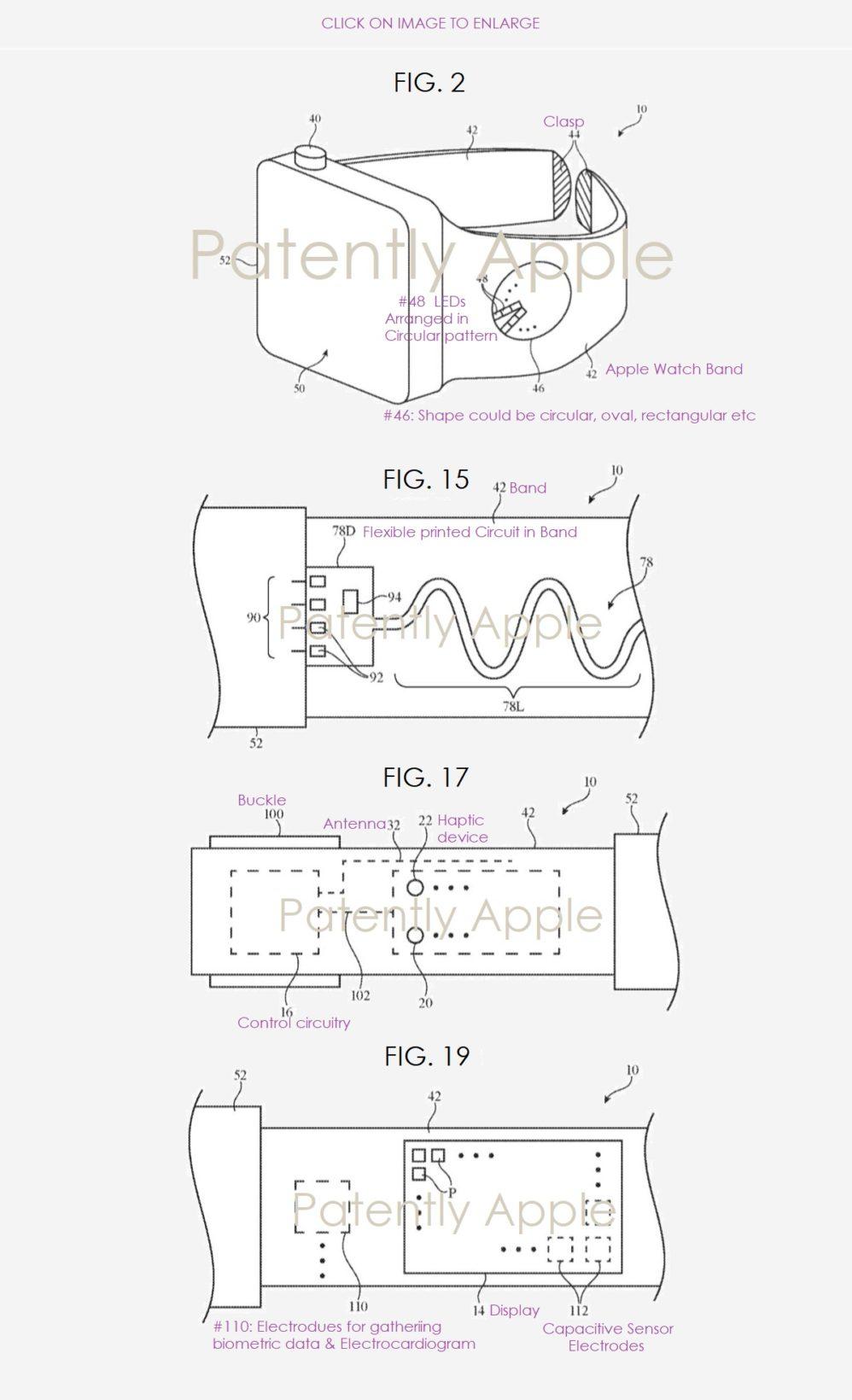 cinturino per Apple Watch con integrati circuiti