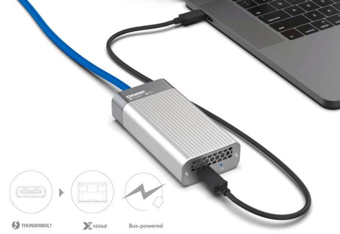 QNAP ha annunciato un adattatore da Thunderbolt 3 a Ethernet 10GbE