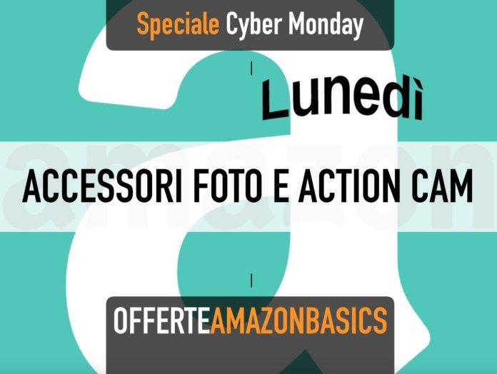 Cyber Monday con AmazonBasics, in sconto action cam e accessori per fotografia