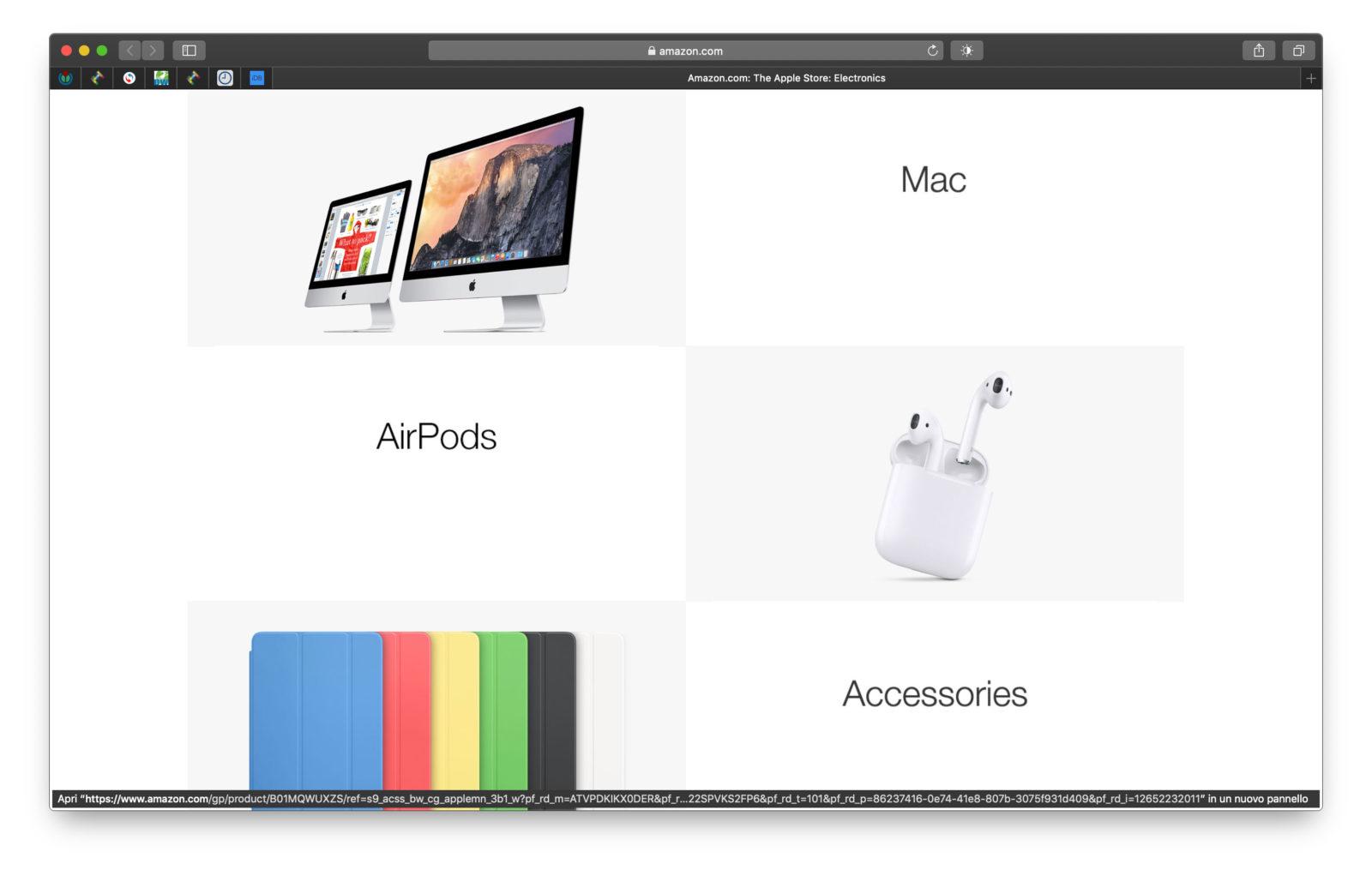 Il negozio di Apple su Amazon negli USA