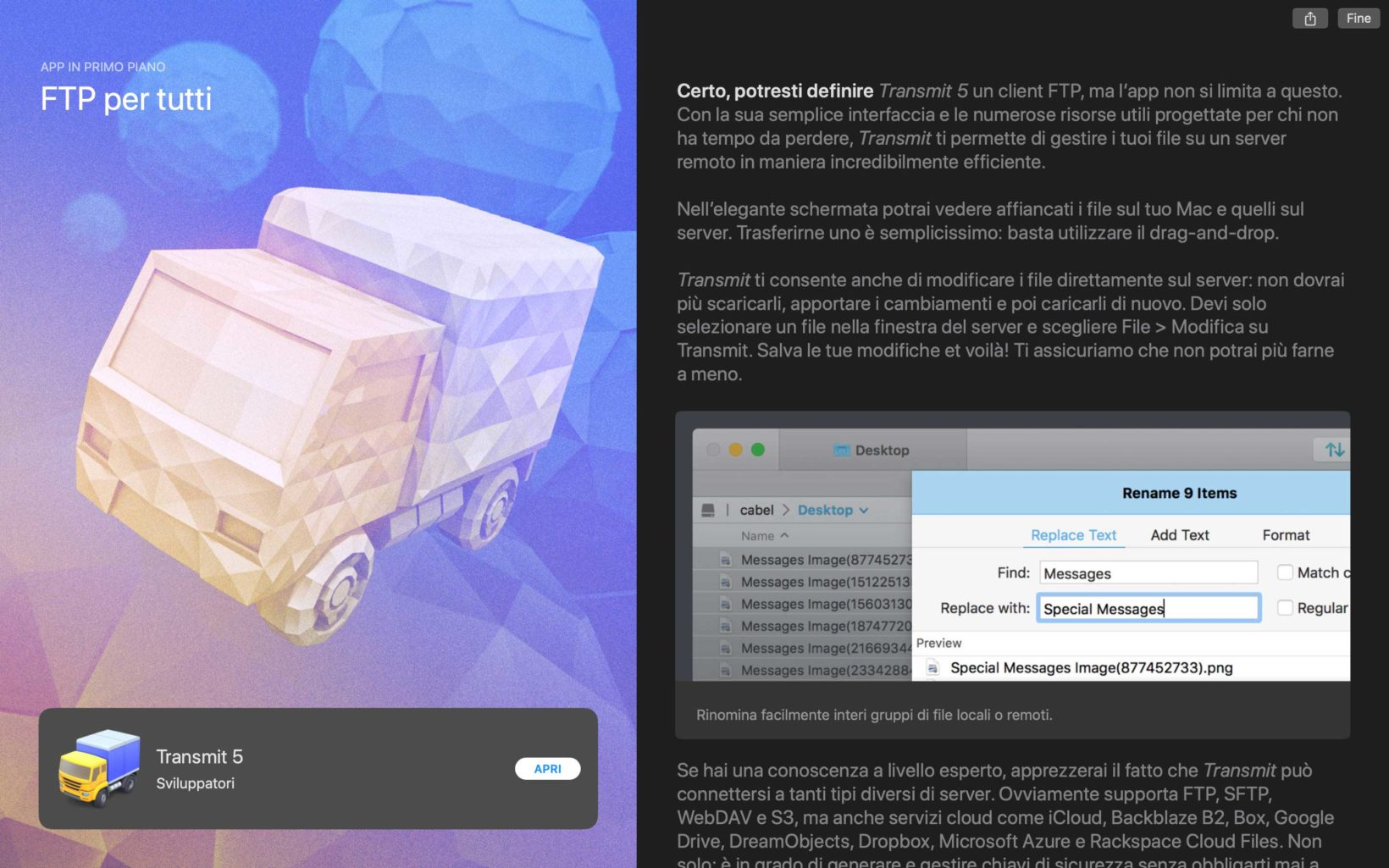 Transmit sul Mac App Store