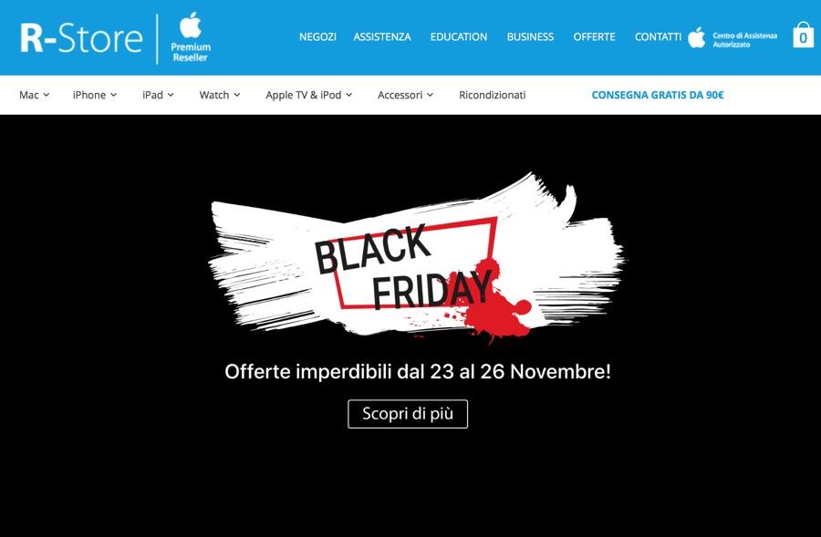 Black Friday R-Store, tanti sconti su prodotti Apple e accessori delle migliori marche