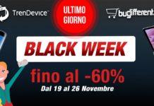 Ultime ore Black Week TrenDevice e BuyDifferent: terminano oggi i Super Sconti fino al -60%
