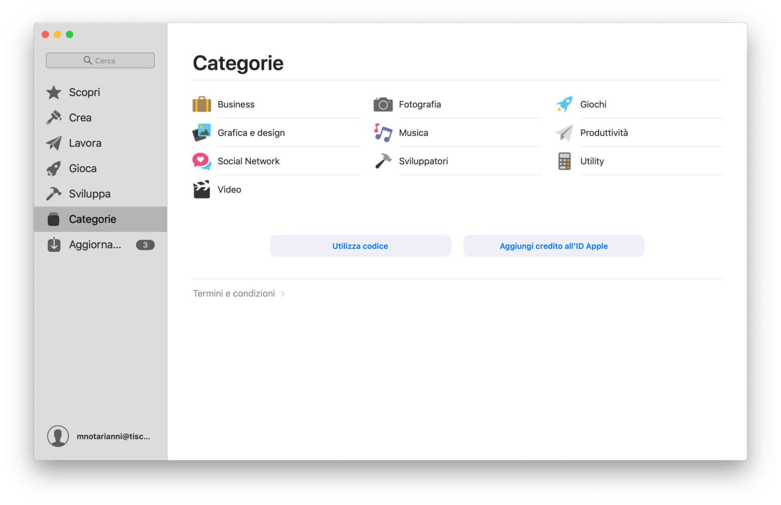 Categorie applicazioni su Mac App Store