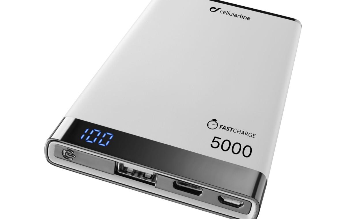 cellularline freepower manta s - foto - powerbank con ricarica senza fili di Cellularline
