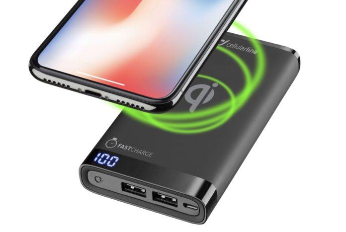 Freepower Manta S Wireless, la powerbank con ricarica senza fili di Cellularline