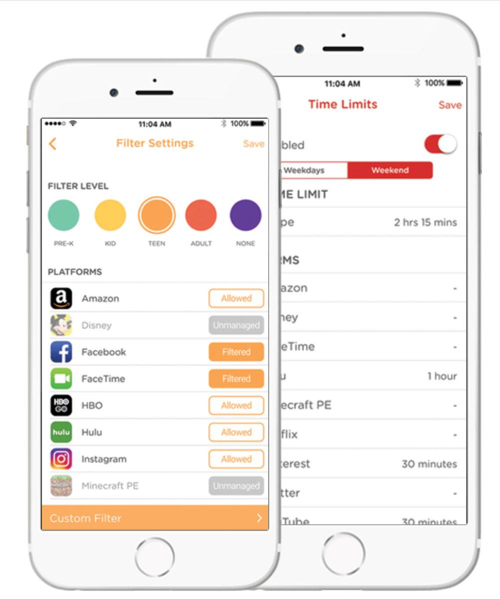 Con l'app di Netgear è possibile attivare i Parental Control e proteggere l'accesso a internet di bambini e adolescenti. È possibile bloccare siti non appropriati e pericolosi, limitare l'accesso in determinate fasce orarie (ad esempio, impedendo l'utilizzo di Facebook nel momento dei compiti) o a determinate categorie di siti (per adulti, giochi, social media, ecc.) e, al tempo stesso, proteggere tutti i dispositivi connessi alla rete domestica da adware e phishing tramite un unico punto di controllo centralizzato.