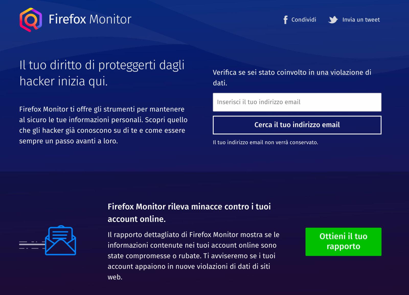 Mozilla, Firefox monitor ora in più lingue e una nuova funzione per il browser