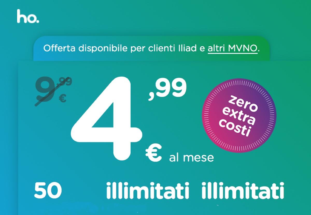 Ho mobile contro iliad arriva la super offerta da 50gb a for Offerte mobile