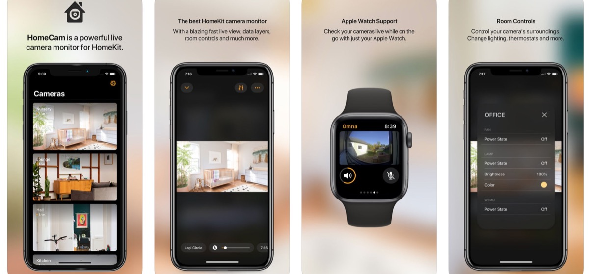 HomeCam mostra più telecamere HomeKit su iPhone, iPad e Apple Watch
