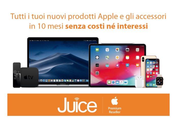 Da Juice tutti i nuovi prodotti Apple si comprano in 10 rate senza costi né interessi